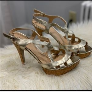 Guess the Aleena silver strappy sandals size 8M